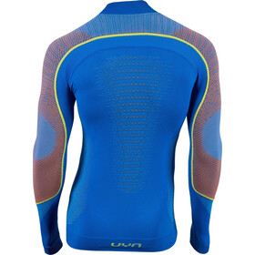 UYN Ambityon UW Rollkragen-Langarmshirt Herren fresh blue/orange shiny/yellow shiny